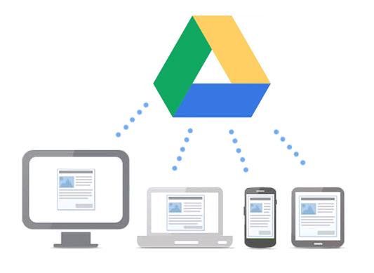 Compartilhamento e armazenamento com Google Drive