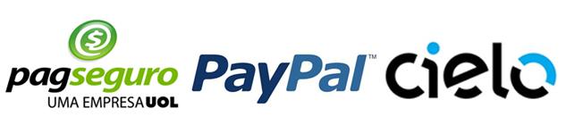 Meios de Pagamentos - Pagseguro, Paypal e Cielo