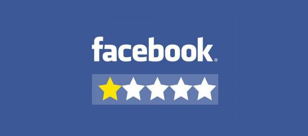Avaliação negativa no Facebook