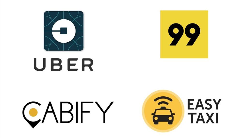 Uber, 99POP, Easy Taxy e Cabify