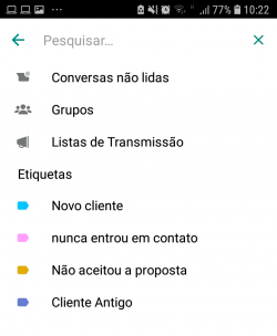 Filtro Whatsapp Business