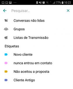 Filtro Whatsapp Business