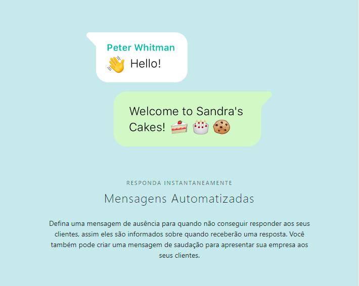 Mensagens automatizadas - Whatsapp Business