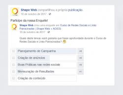 Enquete de evento do Facebook