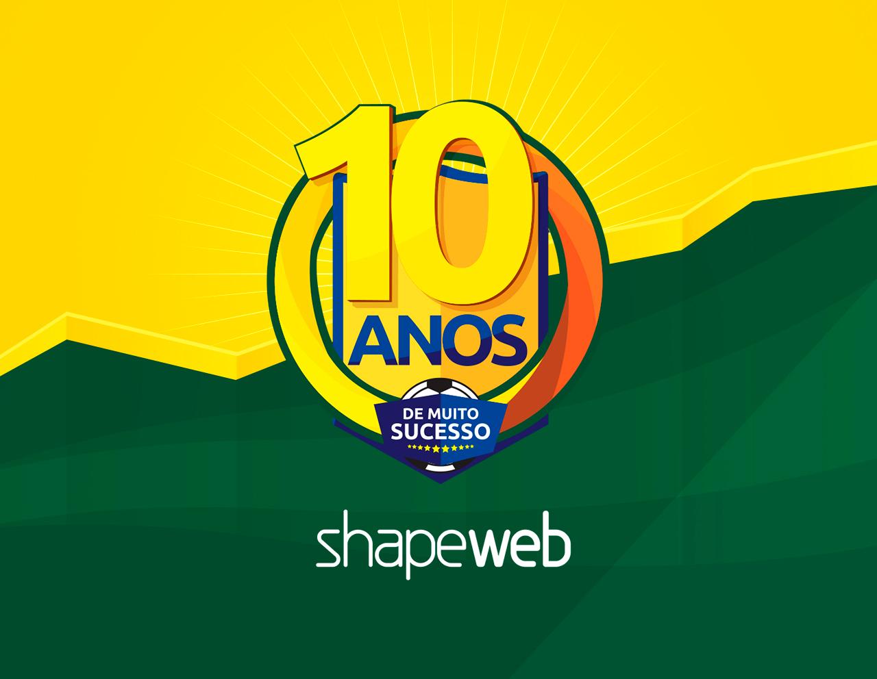 10 Anos - Shape Web Agência de Internet