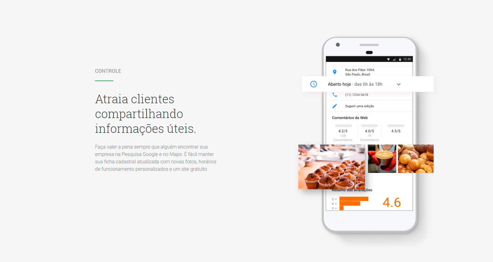 Informações do Google Meu Negócio - SEO Local