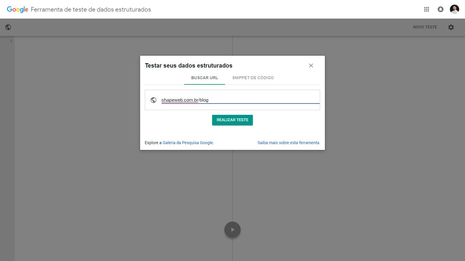 Ferramenta de teste de dados estruturados do Google