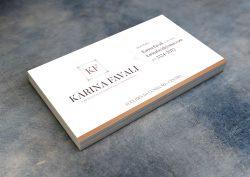 Cartão de Visita - Karina Favali