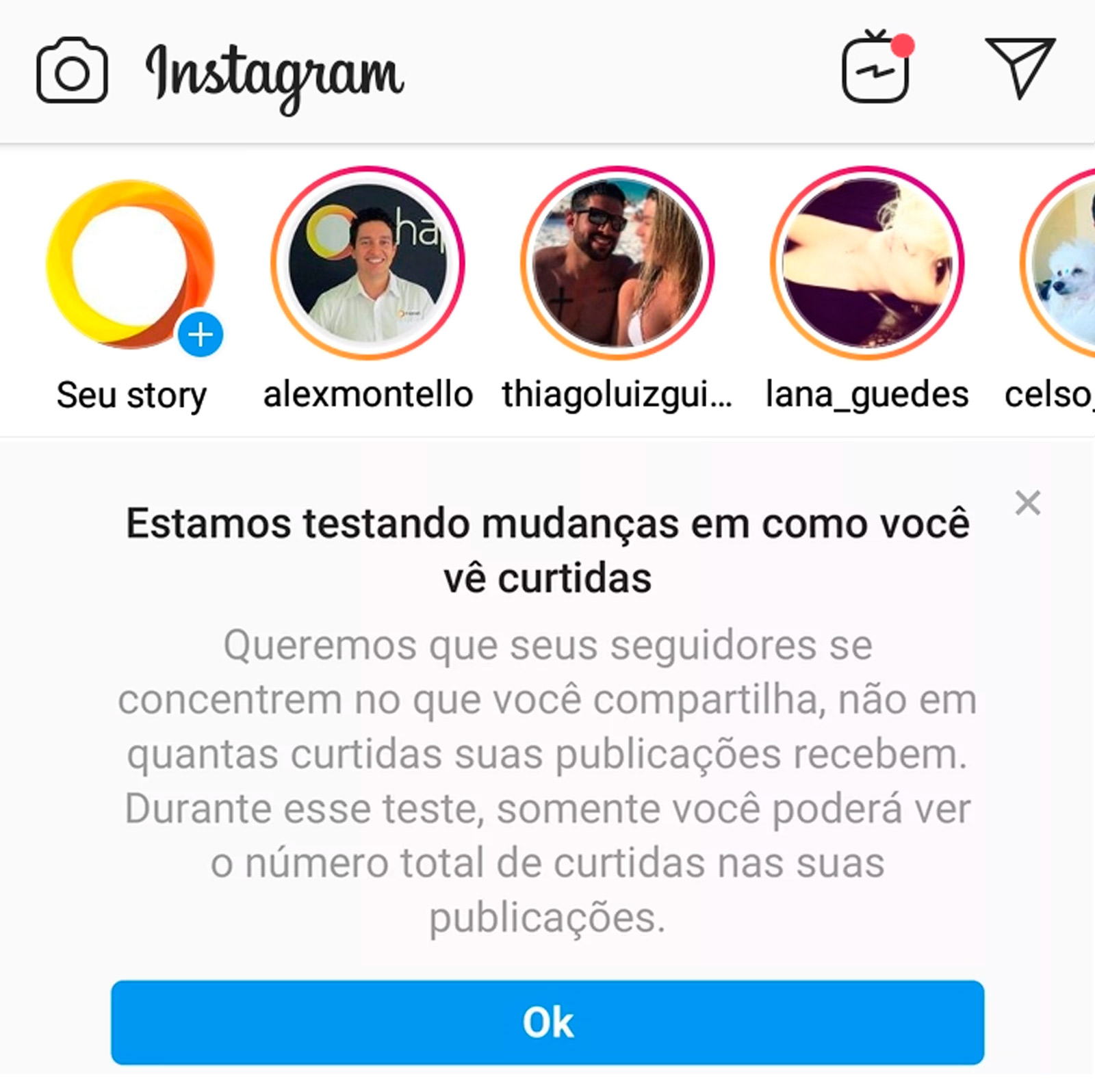O Instagram está realizando um teste ocultando as curtidas no Instagram
