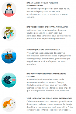 Diferenciais do buscador Ecosia